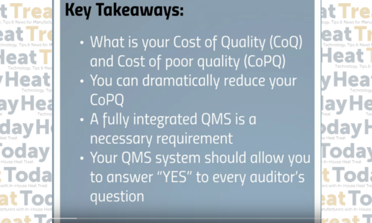 Heat Treat TV: Cost of Heat Treat Poor Quality Highlighted