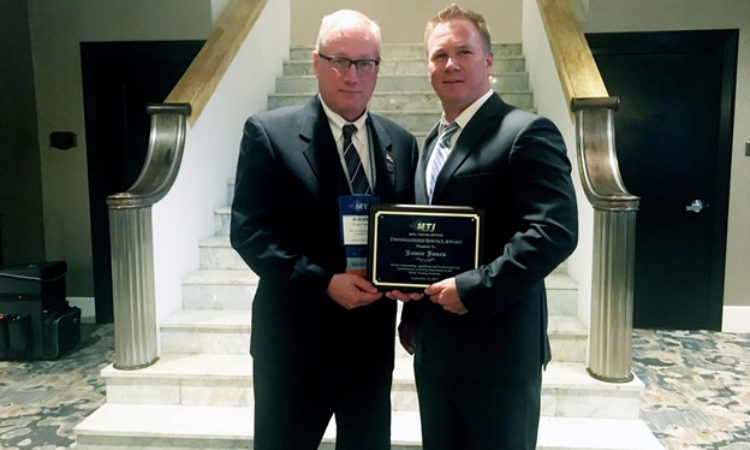 MTI Distinguished Service Award Presented to Solar Atmospheres' Jamie Jones