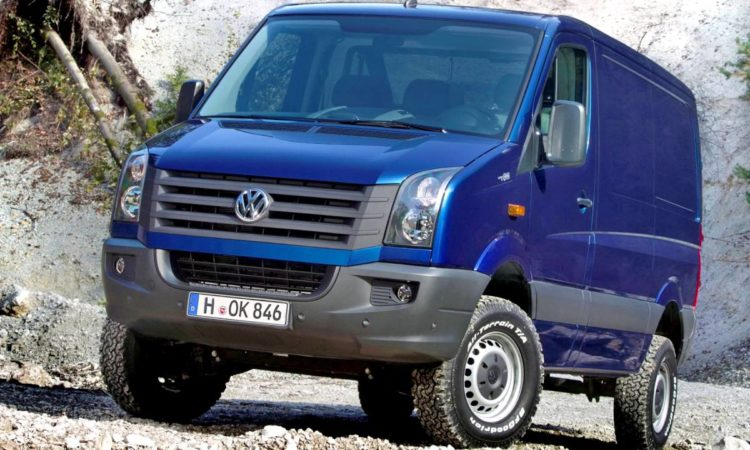 New VW Crafter Van to Sport Axle Designed for Heavy Payloads