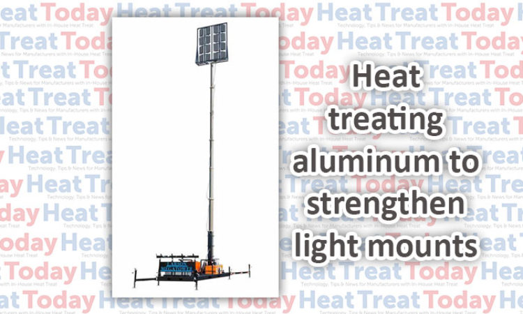 Heat Treatment Toughens Lighting Mount for Rugged Conditions