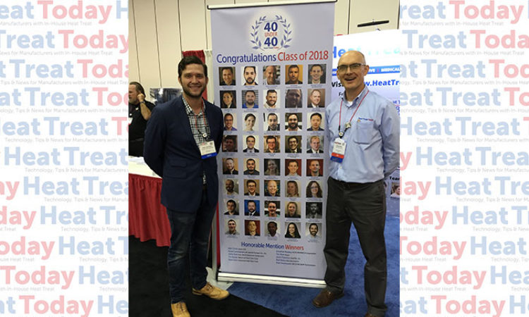 FNA 2018: 40 Under 40 Class of 2018 Members Visit the Heat Treat Today Booth